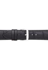 Condor horloge band - Leer - Zwart - 305R.01.xx