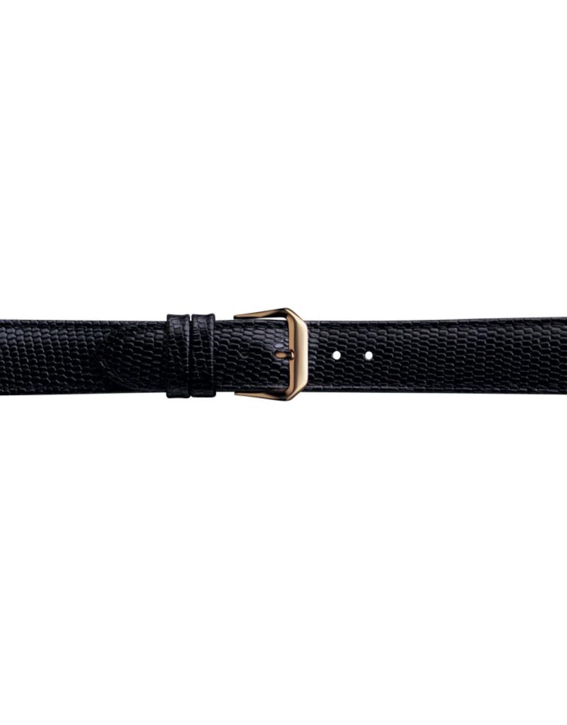 Condor horloge band - Leer - Zwart - 065R.01.xx