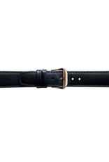 Condor horloge band - Leer - Zwart - 168R.01.xx