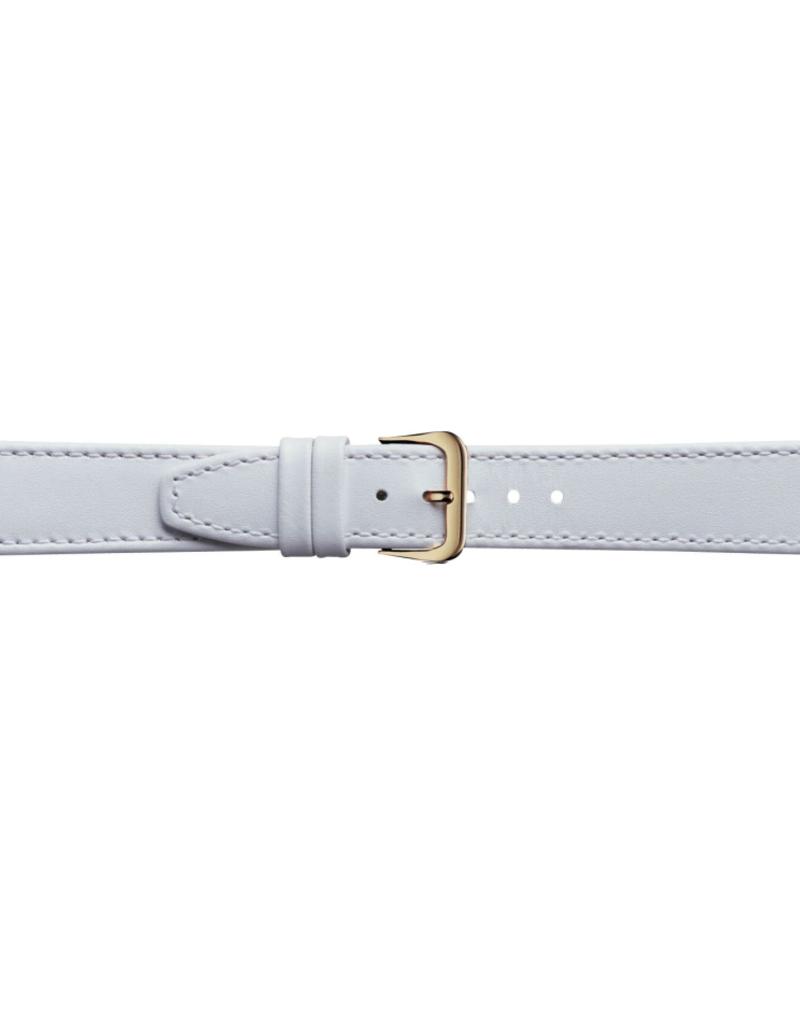 Condor horloge band - Leer - Wit - 124R.09.xx