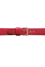 Condor horloge band - Leer - Rood - 124R.06.xx