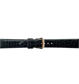 Condor horloge band - Leer - Zwart - 244R.01.xx