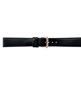 Condor horloge band - Leer - Zwart - 123R.01.xx