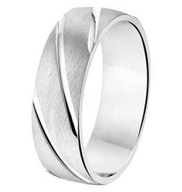 Amorio Relatiering - Zilver - A209 - Zonder steen - 6.5 mm