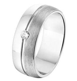 Amorio Relatiering - Zilver - A212 - Zirkonia - 7.0 mm