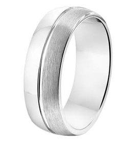 Amorio Relatiering - Zilver - A212 - Zonder steen - 7.0 mm