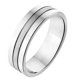 Amorio Relatiering - Zilver - A309 - Zonder steen - 6.0 mm