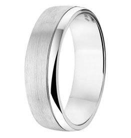 Amorio Relatiering - Zilver - A312 - Zonder steen - 6.0 mm
