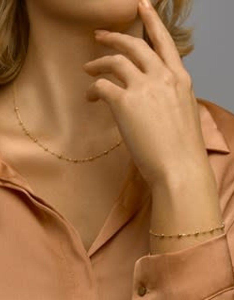 Gouden collier - 14 karaats - Bolletjes - 0,8 mm - 41 + 4 cm