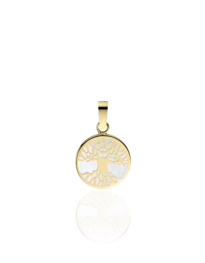Gisser Gouden hanger - 14 karaats - Parelmoer - Levensboom