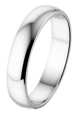 Amorio Relatiering - Wit-Goud - 14 karaats - A414 - Zonder steen - 4.0 mm