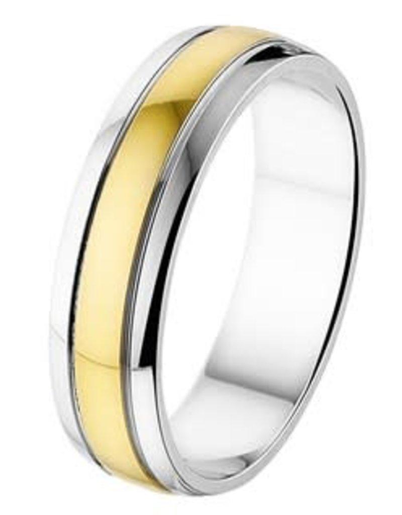 Amorio Relatiering - Bicolor-Goud - 14 karaats - A419 - Zonder steen - 5.0 mm