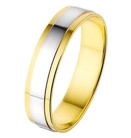 Amorio Relatiering - Bicolor-Goud - 14 karaats - A417 - Zonder steen - 5.0 mm