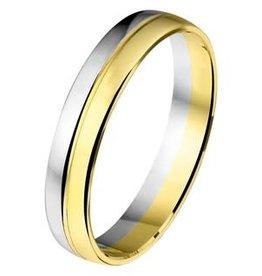 Amorio Relatiering - Bicolor-Goud - 14 karaats - A406 - Zonder steen - 4.0 mm