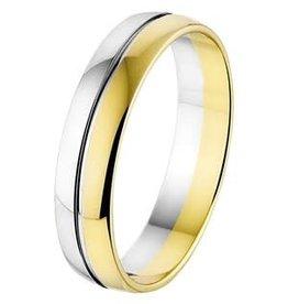 Amorio Relatiering - Bicolor-Goud - 14 karaats - A418 - Zonder steen - 5.0 mm