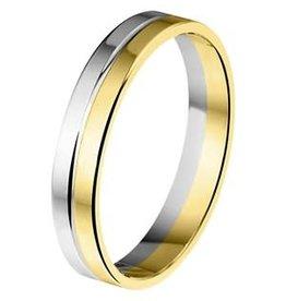 Amorio Relatiering - Bicolor-Goud - 14 karaats - A410 - Zonder steen - 4.0 mm
