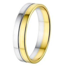 Amorio Relatiering - Bicolor-Goud - 14 karaats - A416 - Zonder steen - 5.0 mm