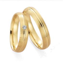 Gettmann Trouwringen - Geel goud - 8012,45 mm - 1 briljant = 0.04 ct