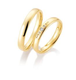 Gettmann Trouwringen - Geel goud - 8406,35 mm - 3 briljanten = 0.035 ct