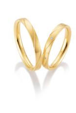 Gettmann Trouwringen - Geel goud - 8409,30 mm - 3 briljanten = 0.015 ct