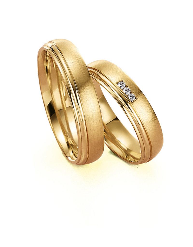Gettmann Trouwringen - Geel goud - 8069,50 mm - 3 briljanten = 0.03 ct