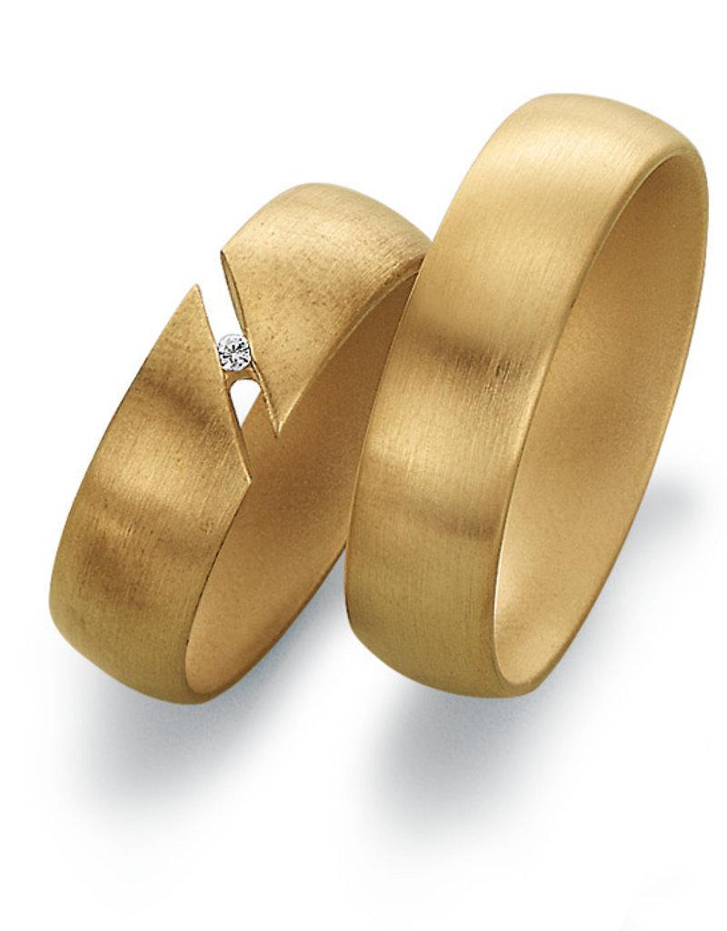 Gettmann Trouwringen - Geel goud - 8041,60 mm - 1 briljant = 0.01 ct