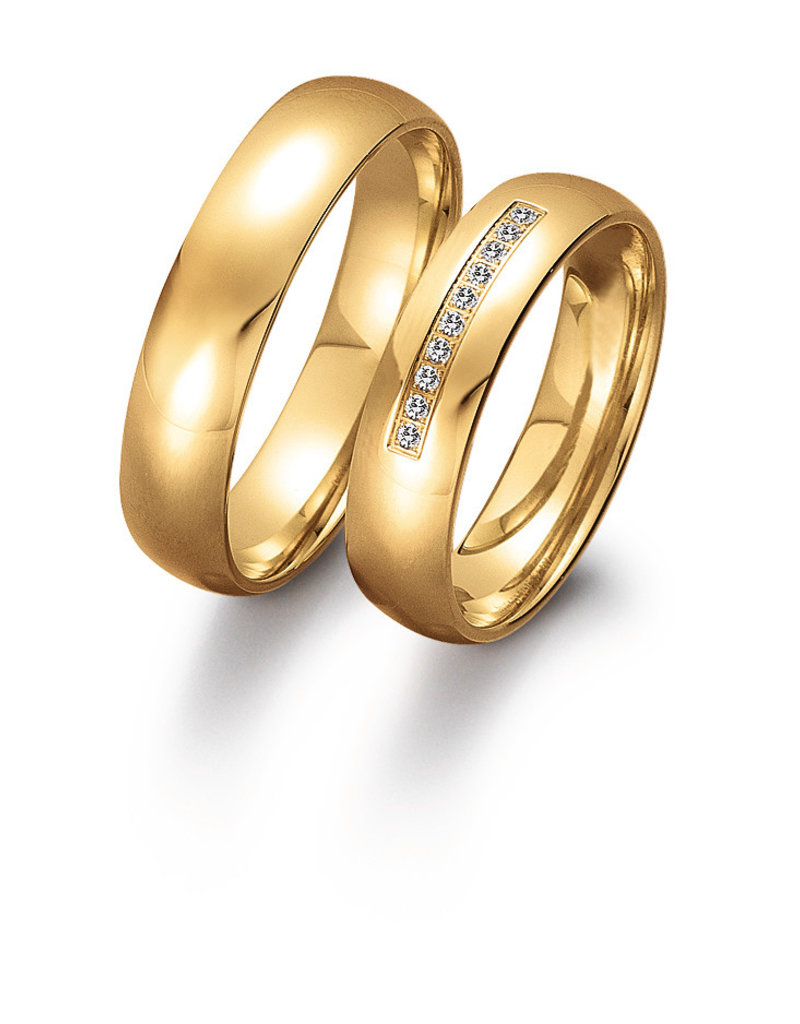 Gettmann Trouwringen - Geel goud - 8052,50 mm - 10 briljanten = 0.05 ct