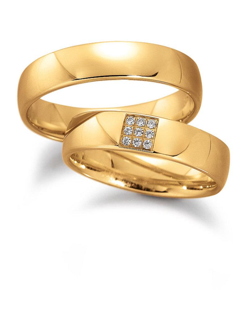 Gettmann Trouwringen - Geel goud - 8055,50 mm - 9 briljanten = 0.045 ct