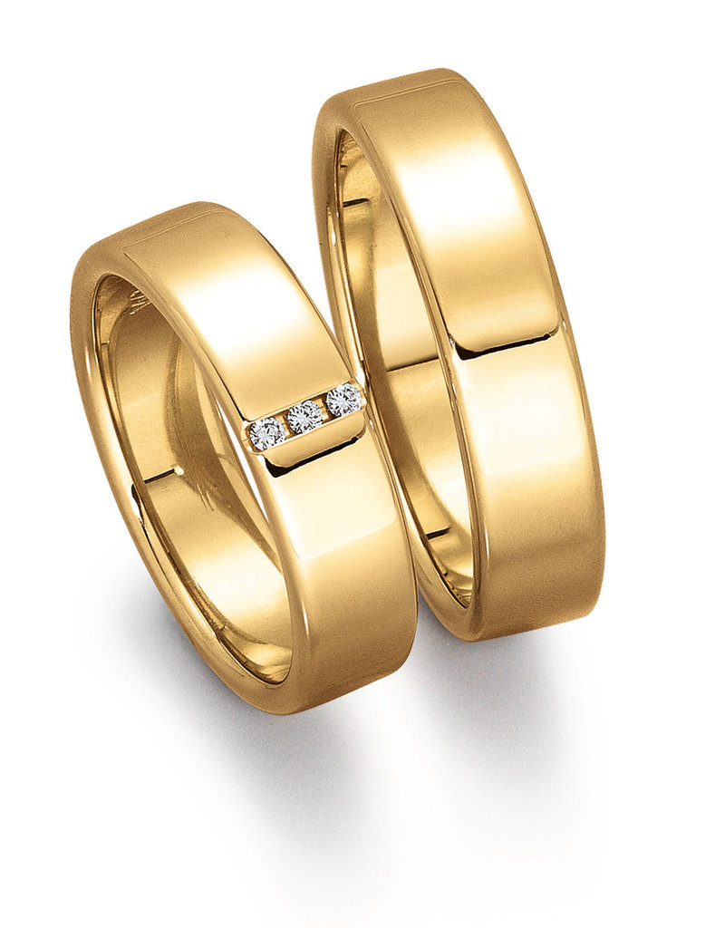 Gettmann Trouwringen - Geel goud - 8056,55 mm - 3 briljanten = 0.03 ct