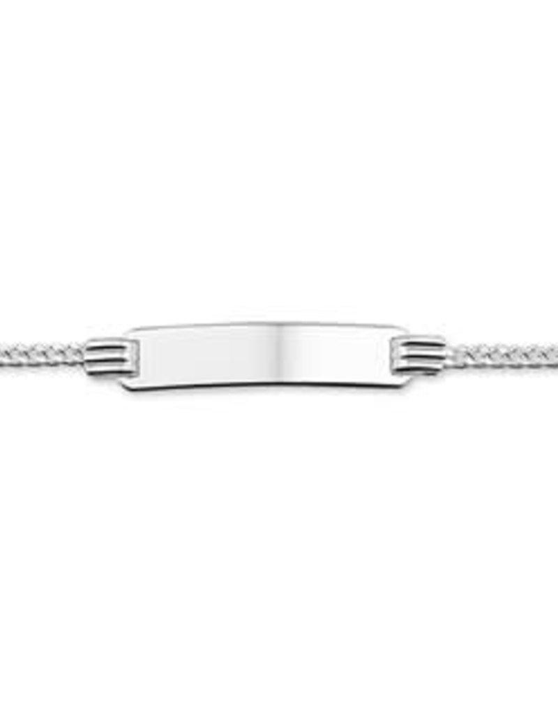 Zilveren plaatarmband - Gourmet - 13-15 cm