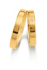 Gettmann Trouwringen - Geel goud - 1101,35 mm - 1 briljant = 0.015 ct