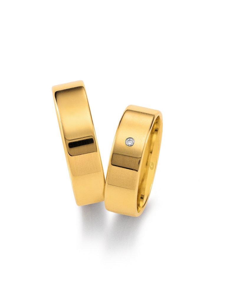 Gettmann Trouwringen - Geel goud - 1101,60 mm - 1 briljant = 0.015 ct
