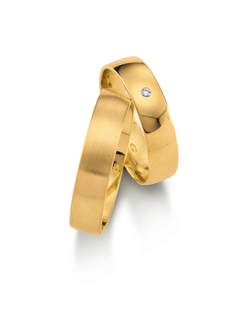 Gettmann Trouwringen - Geel goud - 1102,50 mm - 1 briljant = 0.015 ct