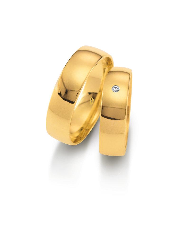 Gettmann Trouwringen - Geel goud - 1102,60 mm - 1 briljant = 0.015 ct