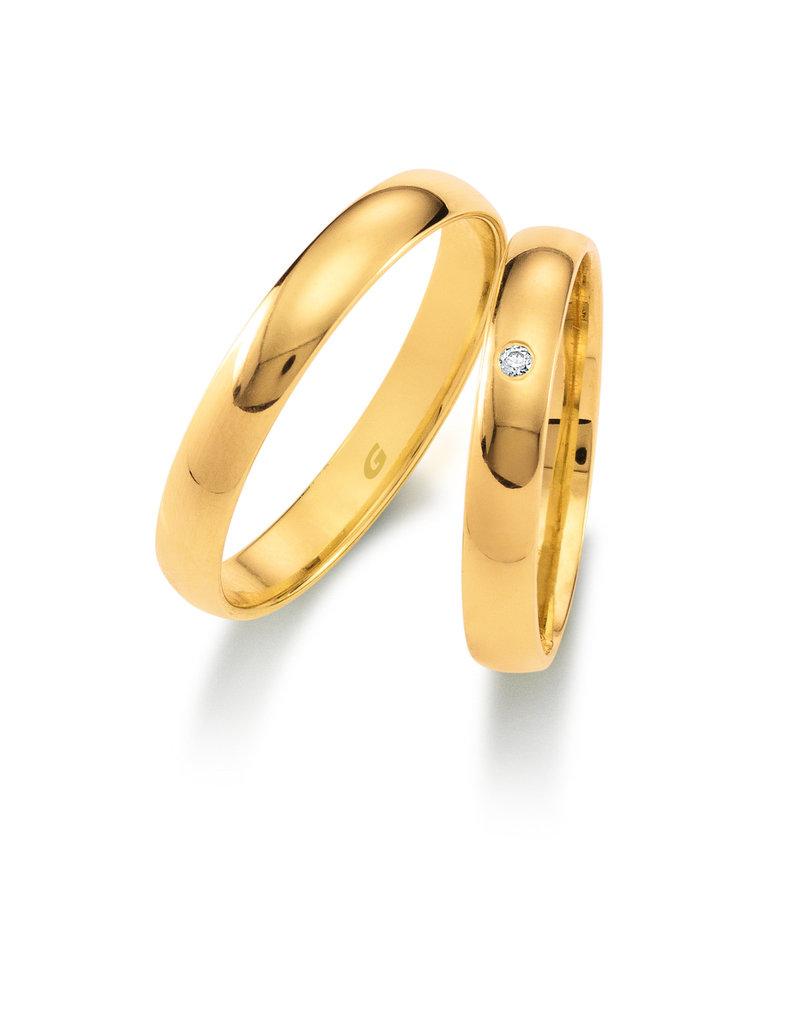 Gettmann Trouwringen - Geel goud - 1103,35 mm - 1 briljant = 0.015 ct