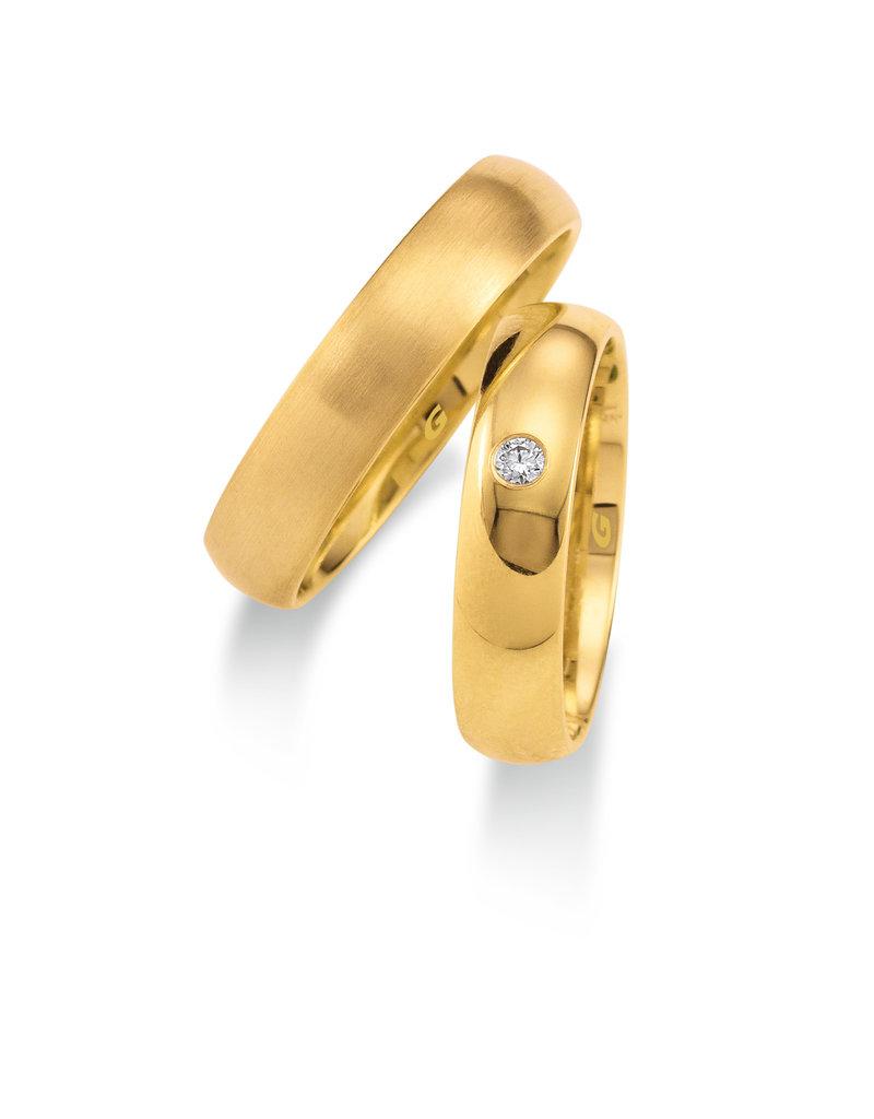 Gettmann Trouwringen - Geel goud - 1103,50 mm - 1 briljant = 0.04 ct