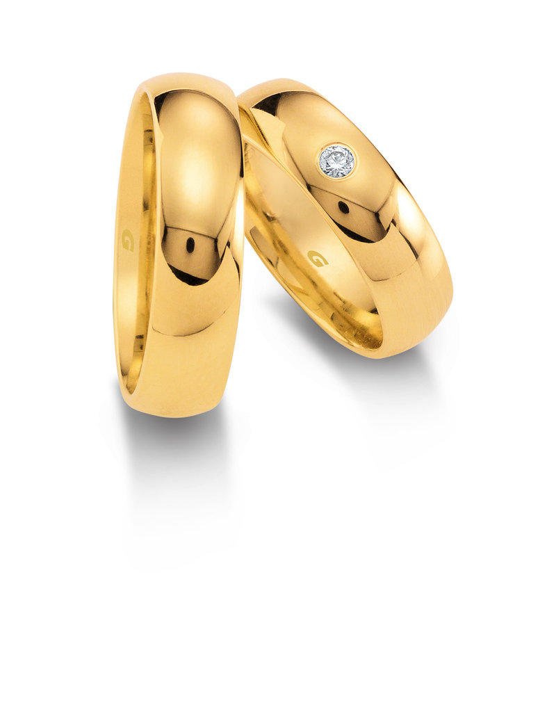 Gettmann Trouwringen - Geel goud - 1103,60 mm - 1 briljant = 0.05 ct