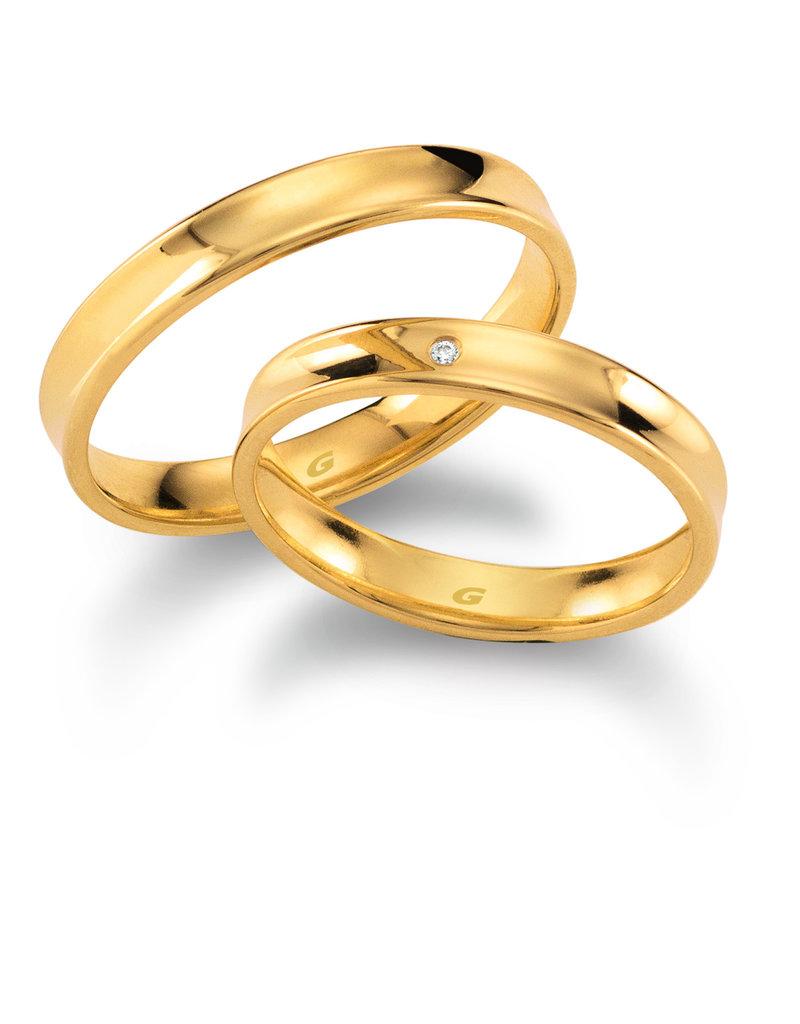 Gettmann Trouwringen - Geel goud - 1104,35 mm - 1 briljant = 0.005 ct