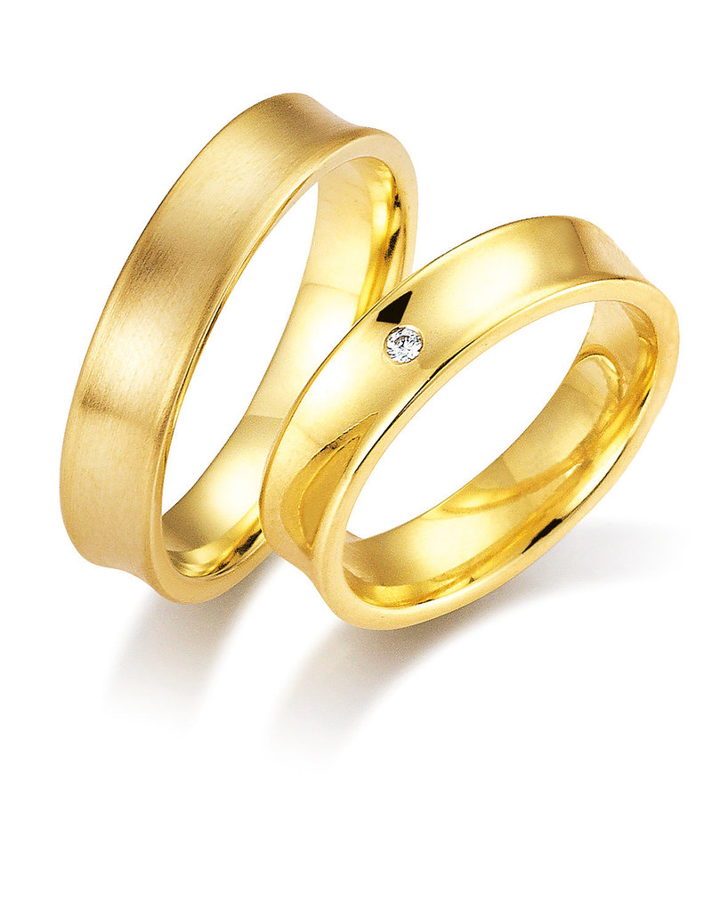Gettmann Trouwringen - Geel goud - 1104,50 mm - 1 briljant = 0.02 ct