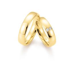 Gettmann Trouwringen - Geel goud - 8368,50 mm - 2 briljanten = 0.06 ct
