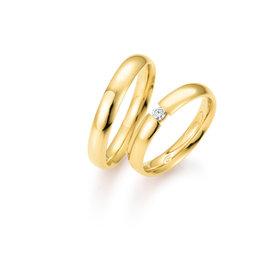 Gettmann Trouwringen - Geel goud - 8375,40 mm - 1 briljant = 0.06 ct