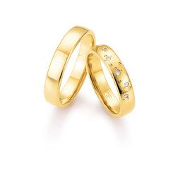 Gettmann Trouwringen - Geel goud - 8376,45 mm - 5 briljanten = 0.036 ct