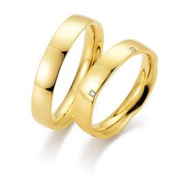 Gettmann Trouwringen - Geel goud - 8377,45 mm - 5 briljant = 0.05 ct