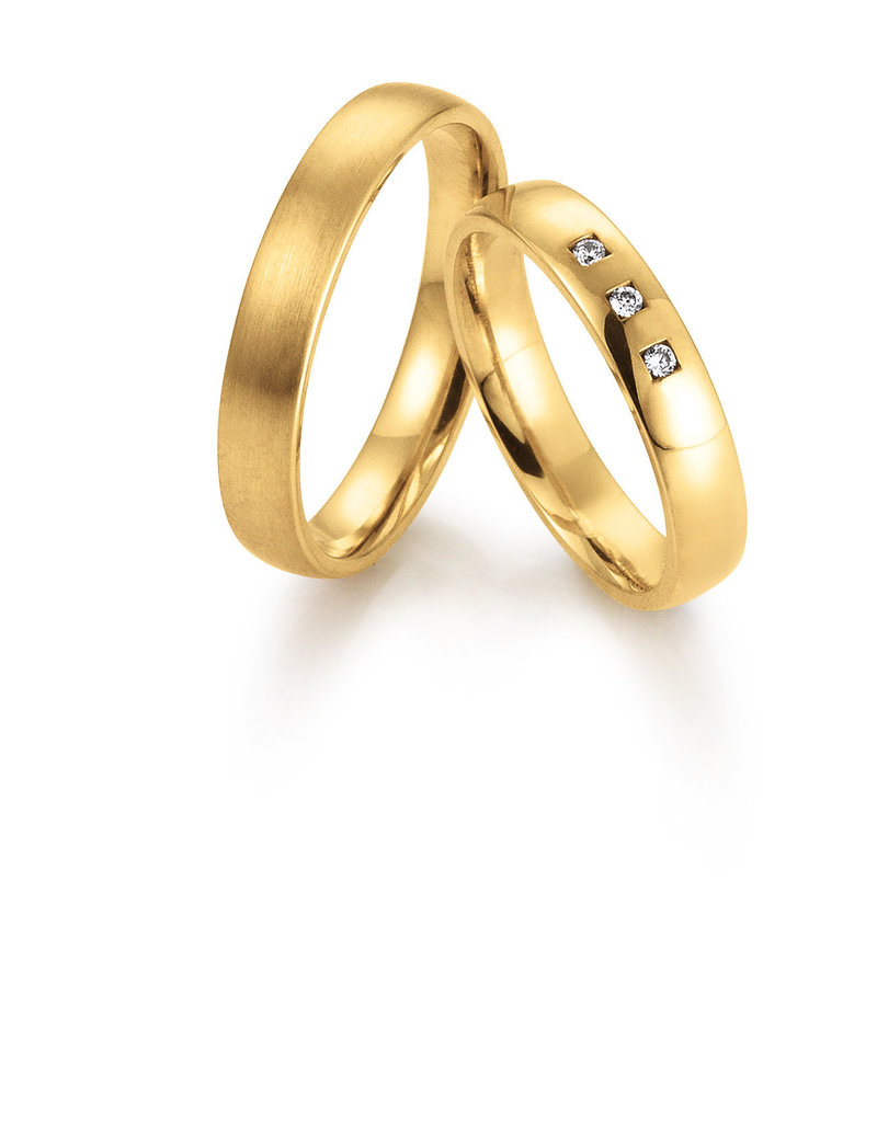 Gettmann Trouwringen - Geel goud - 8059,40 mm - 3 briljanten = 0.045 ct