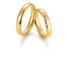 Gettmann Trouwringen - Geel goud - 8064,40 mm - 9 briljanten = 0.045 ct