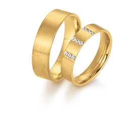 Gettmann Trouwringen - Geel goud - 8070,45 mm - 3/6 of 9 briljanten = 0.03/0.06 of 0.09 ct