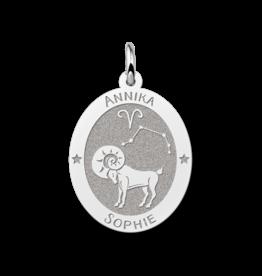 Zilveren naam sterrenbeeld ovaal