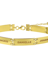 Gouden armband rechthoek 7 namen