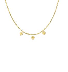 Gouden naam ketting hartjes met max. 8 letters