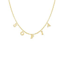 Gouden naam ketting met max. 8 letters